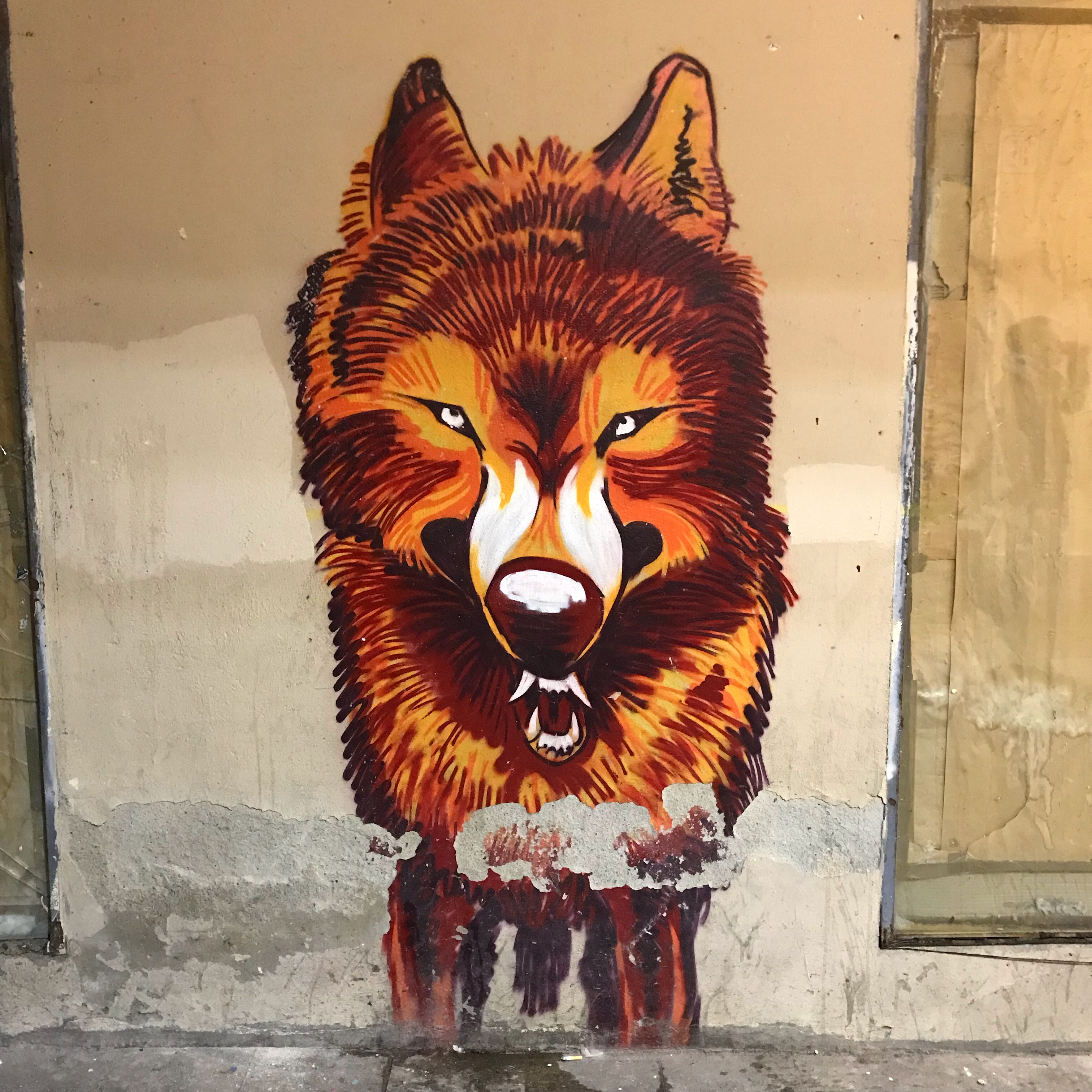 Streetart Barcelona – Hungry like the wolf (1982)